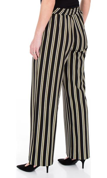 Striped Wide Leg Pull On Trousers