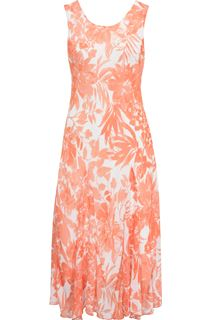 Anna Rose Bias Cut Floral Chiffon Midi Dress