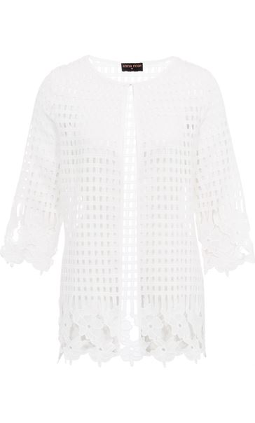 Anna Rose Long Crochet Cover Up Ivory