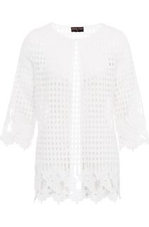 Anna Rose Long Crochet Cover Up - Ivory