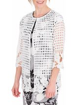 Anna Rose Long Crochet Cover Up Ivory - Gallery Image 2