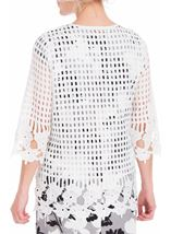 Anna Rose Long Crochet Cover Up Ivory - Gallery Image 3