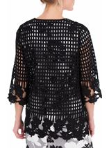 Anna Rose Long Crochet Cover Up Black - Gallery Image 3
