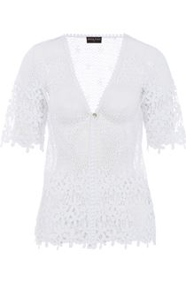Anna Rose Short Sleeve Crochet Cover Up