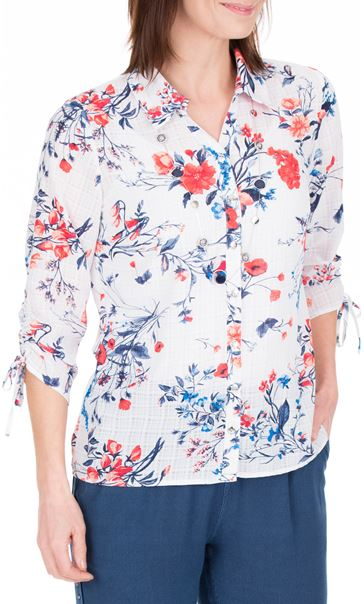 Anna Rose Floral Print Blouse With Necklace Multi - Gallery Image 2