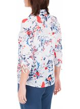 Anna Rose Floral Print Blouse With Necklace Multi - Gallery Image 3