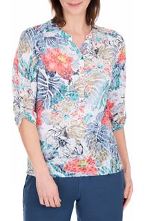Anna Rose Embellished Print Top