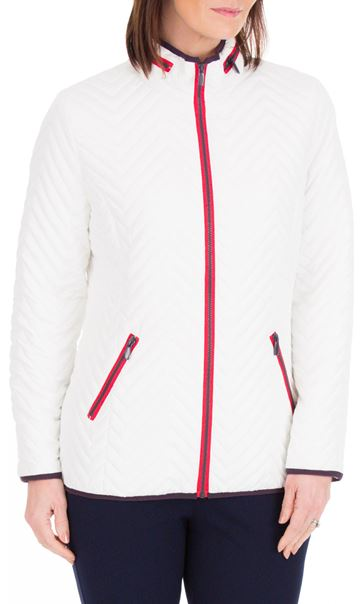 Anna Rose Lightweight Padded Coat White