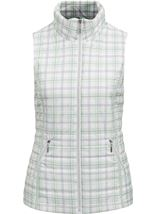 Anna Rose Check Gilet Mint Green - Gallery Image 1