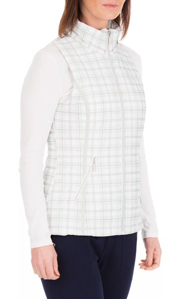 Anna Rose Check Gilet Mint Green - Gallery Image 2