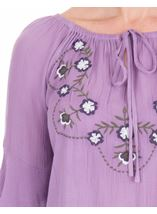 Embroidered Layered Sleeve Top Lilac - Gallery Image 3