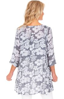 Loose Fit Floral Printed Tunic