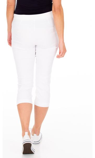 Slim Leg Cropped Trousers White - Gallery Image 2