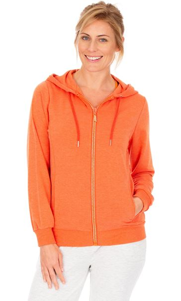 Embellished Zip Gym Jacket Orange
