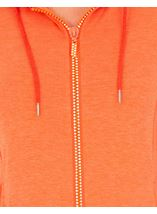 Embellished Zip Gym Jacket Orange - Gallery Image 3