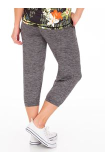 Cropped Jogging Bottoms - Black