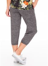 Cropped Jogging Bottoms Black - Gallery Image 2