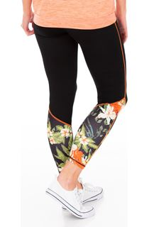 Full Length Floral Panelled Gym Leggings
