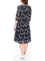 Anna Rose Panelled Lace Midi Dress Navy - Gallery Image 2