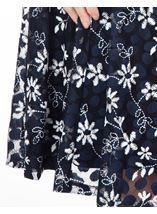 Anna Rose Panelled Lace Midi Dress Navy - Gallery Image 3