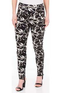 Printed Slim Leg Stretch Trousers