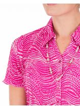 Anna Rose Pleated Blouse With Necklace Magenta - Gallery Image 3