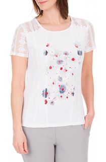 Anna Rose Lace Panel Print Top