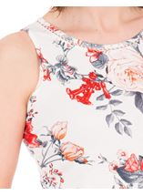 Anna Rose Floral Print Vest White/Red - Gallery Image 3