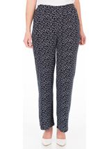 Anna Rose Wide Leg Spot Trousers Navy/White - Gallery Image 1