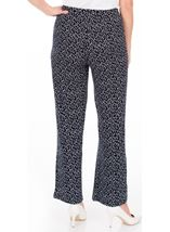 Anna Rose Wide Leg Spot Trousers Navy/White - Gallery Image 2