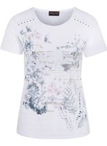 Anna Rose Script And Floral Print Top