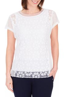 Anna Rose Short Sleeve Lace Top