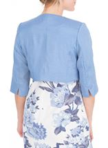 Anna Rose Cropped Open Jacket Mid Blue - Gallery Image 2