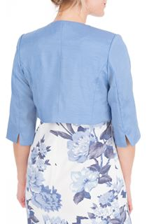 Anna Rose Cropped Open Jacket - Mid Blue