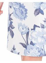 Anna Rose Printed Shantung Dress Mid Blue/Ivory - Gallery Image 3