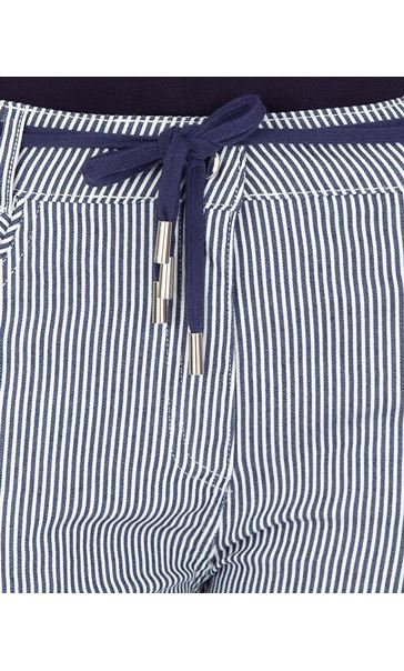 Stripe Cropped Trousers Blue - Gallery Image 3