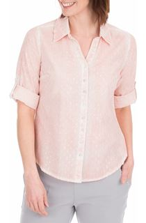 Anna Rose Shimmer Washed Shirt - Pink
