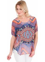 Embellish Print Georgette Top