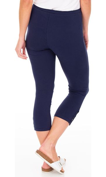 Cropped Jersey Leggings Denim Blue - Gallery Image 2