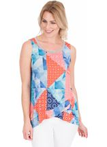 Sleeveless Printed Top