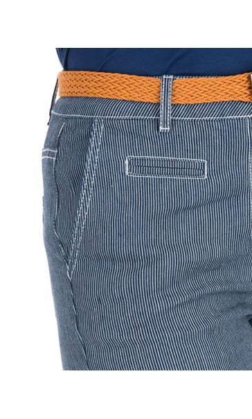 Striped Belted Shorts Blue - Gallery Image 3