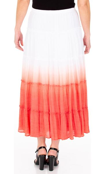 Ombre Layered Pull On Maxi Skirt White - Gallery Image 2
