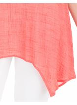 Ombre Dip Hem Tunic Coral/White - Gallery Image 3