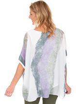 Printed Chiffon Layer Top Lilac/Olive - Gallery Image 2