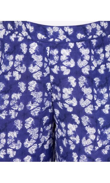 Printed Tie Hem Pull On Trousers French Blue/White - Gallery Image 3