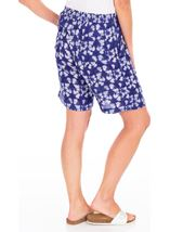 Printed Pull On Shorts French Blue/White - Gallery Image 2