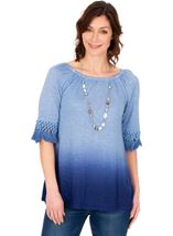 Round Neck Ombre Jersey Top