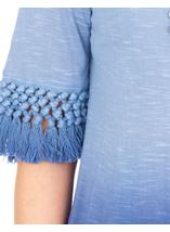 Round Neck Ombre Jersey Top French Blue/Lt Blue - Gallery Image 3