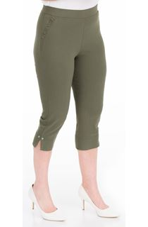 Fitted Cropped Stretch Trousers