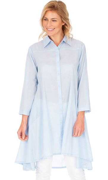 Oversized Dipped Hem Shirt